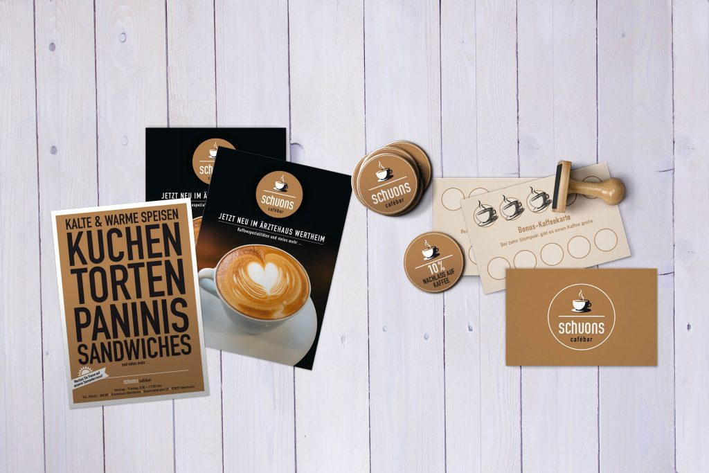 Corporate Design für <i>schuons cafébar</i>